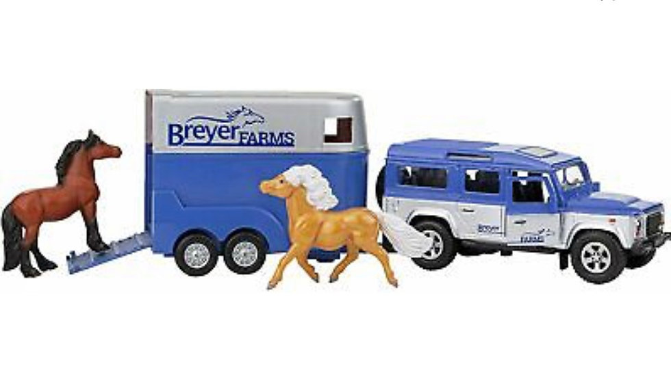 Breyer Farms Stablemates Land Rover and Tag-A-Long Trailer