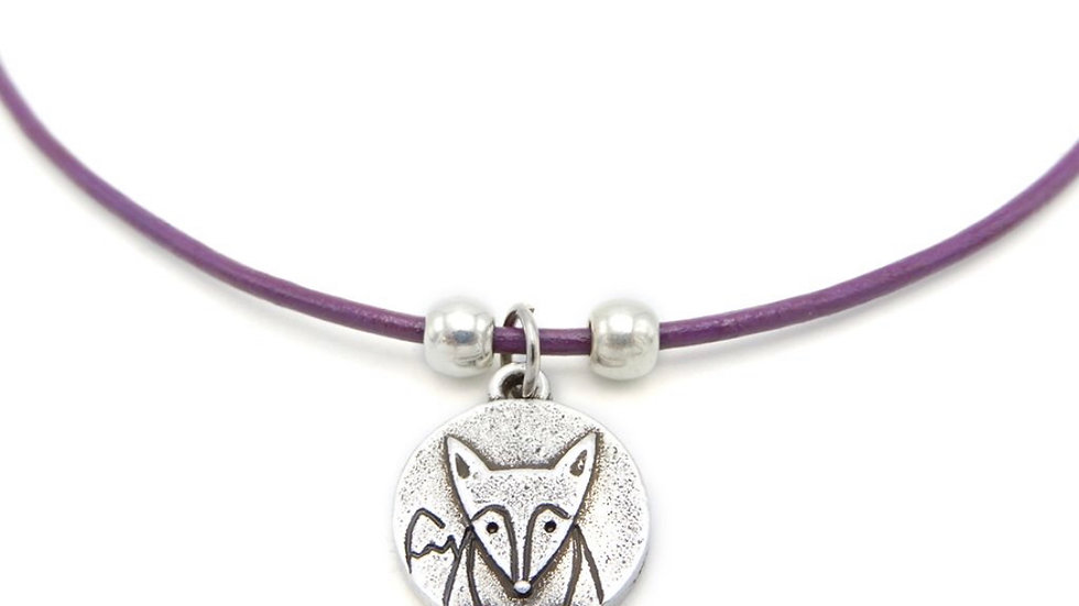 "LILO Collections ""Fox Disc"" Skinny Necklace"