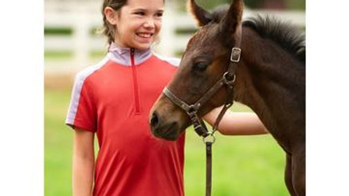 NEW Kids Ice Fil® Lite Short Sleeve Riding Shirt - 2 Tone