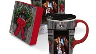 Horse Family Christmas Coffee Mug