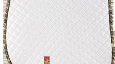 White w/Baker Plaid Trim - Baby Pad
