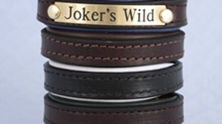 Tory Leather Bracelet with Brass Engraved Nameplate