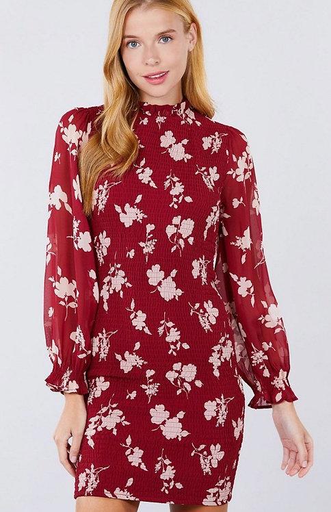 Kolkata Dress - Wine/Pink