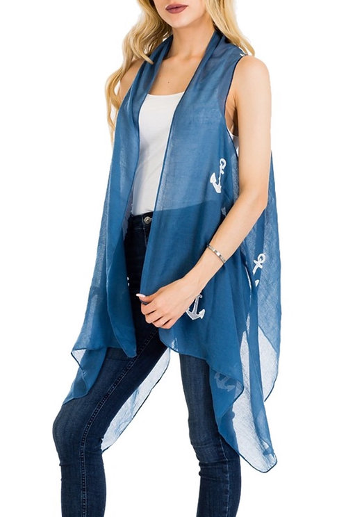 New Harbor Cover Up - Blue