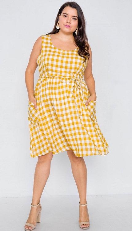 Concord Dress - Yellow Plaid