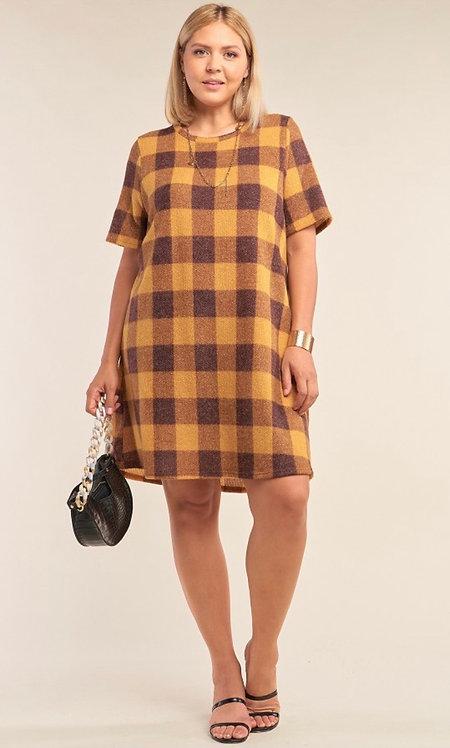 Havasu Dress - Yellow Plaid