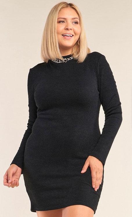 Thiva Cutout Dress - Black