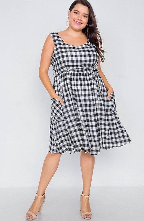 Concord Dress - Black Plaid