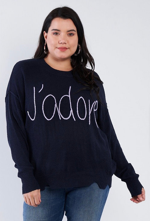 J'adore Sweater - Navy