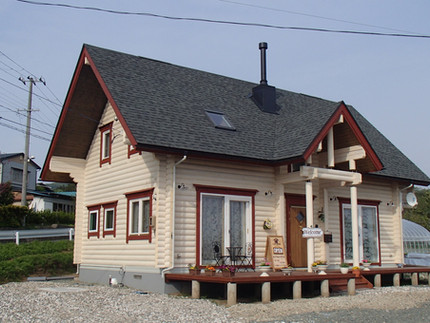 [施工事例]ヤマミチモデルハウス(兼自宅)ログハウス