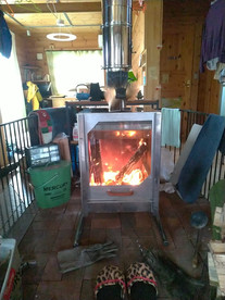 オリジナル薪ストーブ【ARCRAY】 我が家に設置!