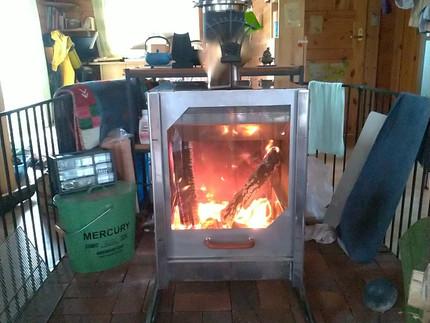 オリジナル薪ストーブ【ARCRAY】 試作機 我が家に設置!