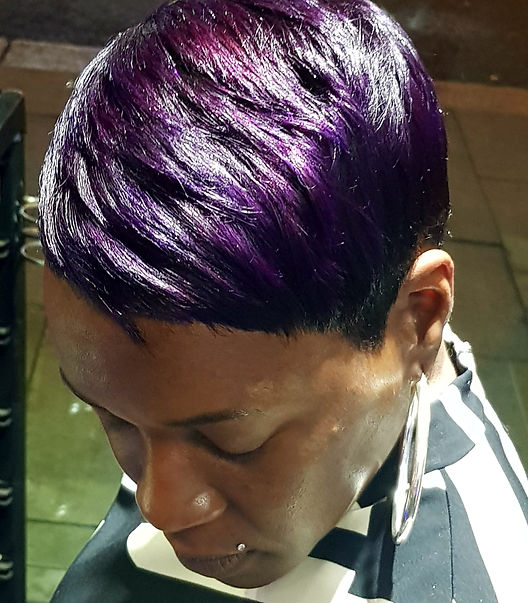 Pixie Hairstyle in Purple