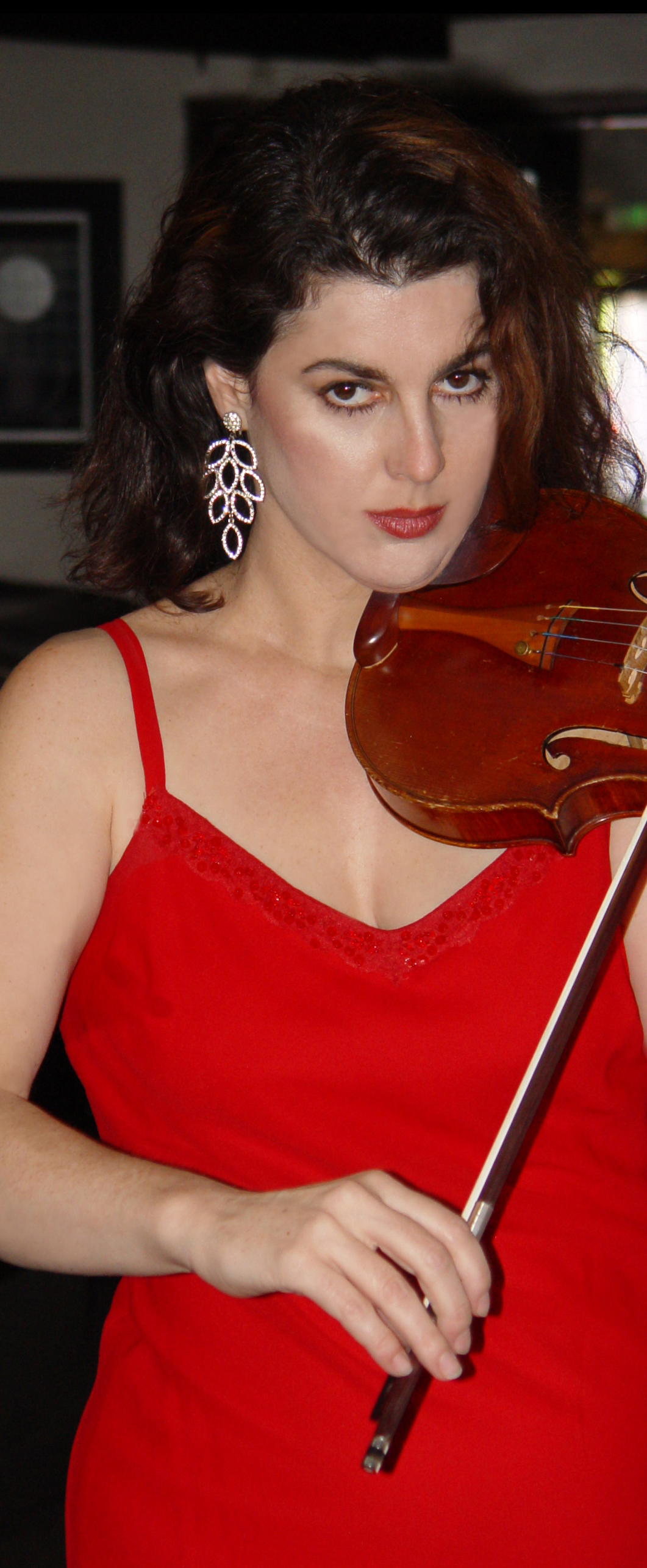 Calabria, Violin, Red Dress