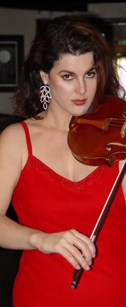 Calabria, Violin, Red Dress