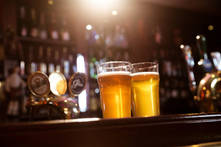 close-up-of-beer-glasses-on-the-counter-