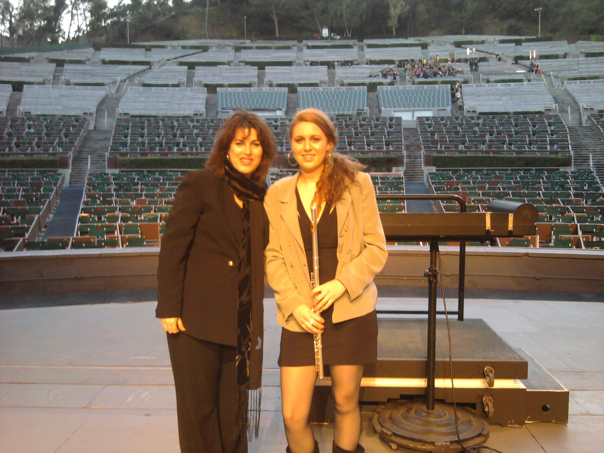 w Daughter Morgan at the Bowl