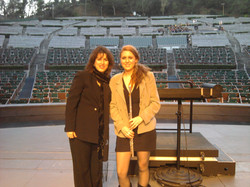 w Daughter Morgan at the Bowl