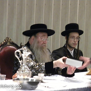 Giving Awards in Yeshiva Ketana