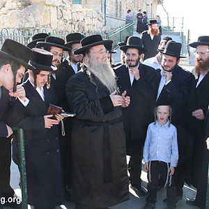 The Rebbe Shlita visiting Eretz Yisrael