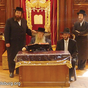The Rebbe at a Bechina for Talmidim of Darchei Noam
