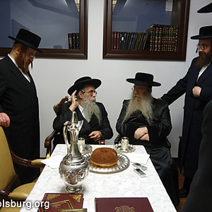 The Rebbe with Gedolei Yisrael