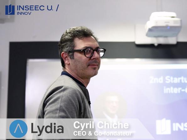 Start-Up MeetUp Inseec U, CEO de Lydia, Cyril Chiche_Réalisation vidéo