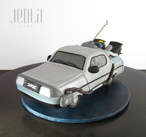 Back To The Future Delorean cake topper