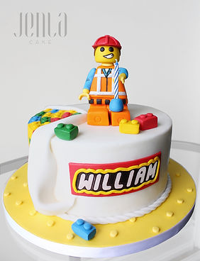 Emmet from the Lego movie wishes you a happy birthday with this cake