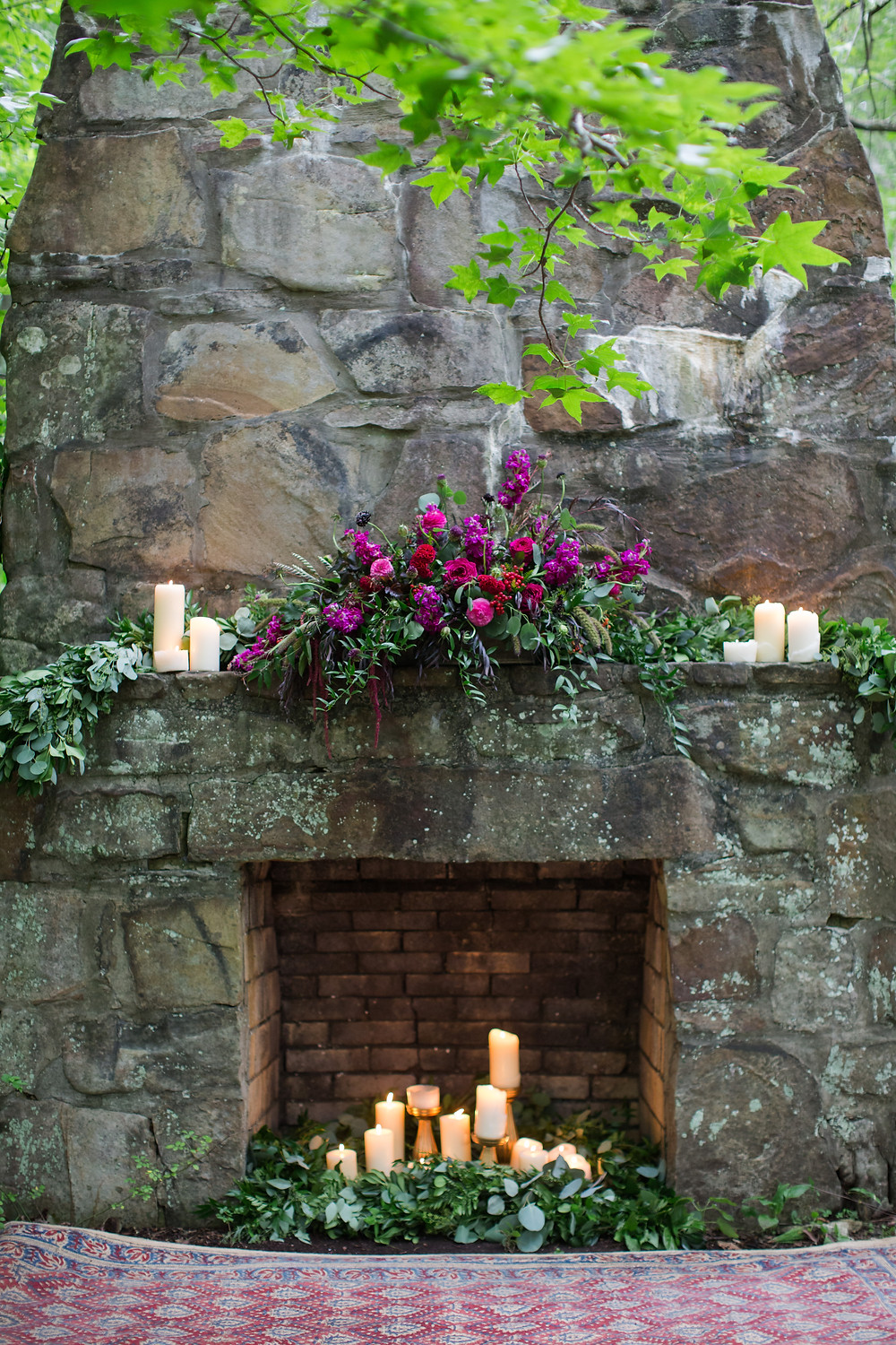 Fireplace Styled Shoot