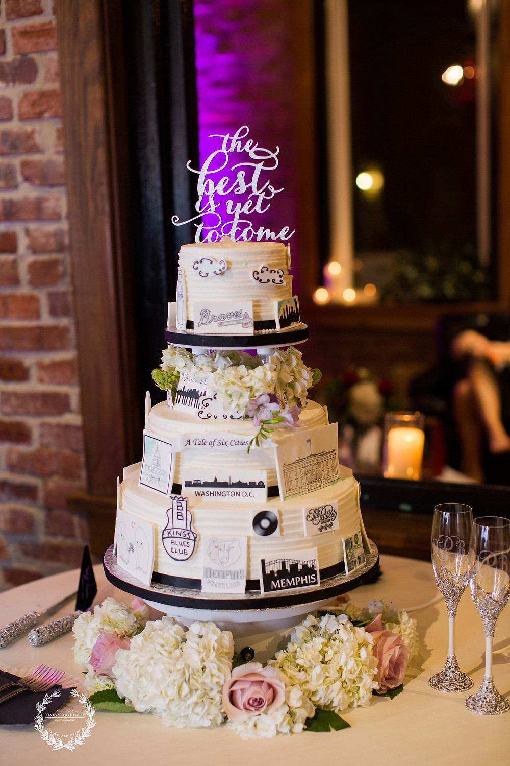 A Tale of Six Cities Wedding Cake