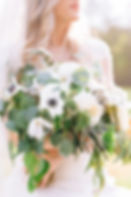 Chattanooga bride holding a bouquet.