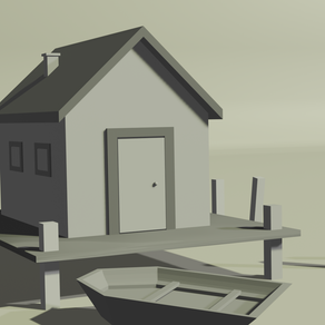 Monochromic Boathouse in Blender