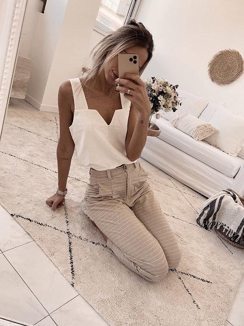 Atenas Pants / Beige Stripes