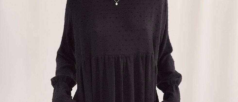 Fedra Dress Plumetti / Black