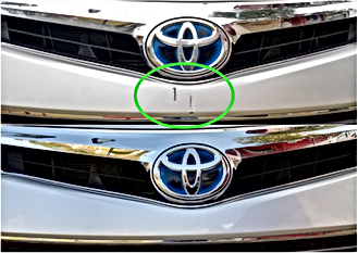 Toyota Front Bumper Airbrush Touch Up