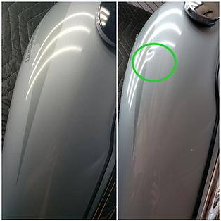 Harley Davidson Gas Tank Paintless Dent Repair