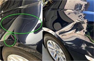 BMW Fender Scratch Removal