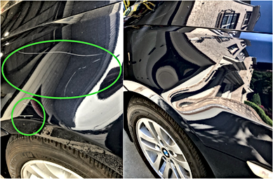 BMW Fender Scratch Removal