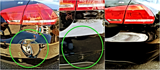 Black VW Jetta Painless Dent Repair with Airbrush Touch Up