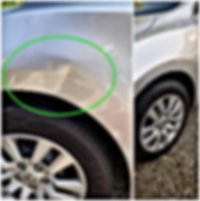 Silver Nissan Fender Paintless Dent Repair