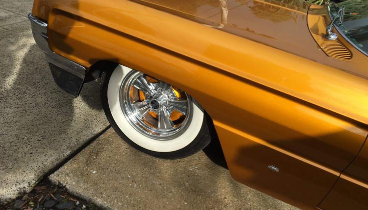 Custom painted brake brake drums.