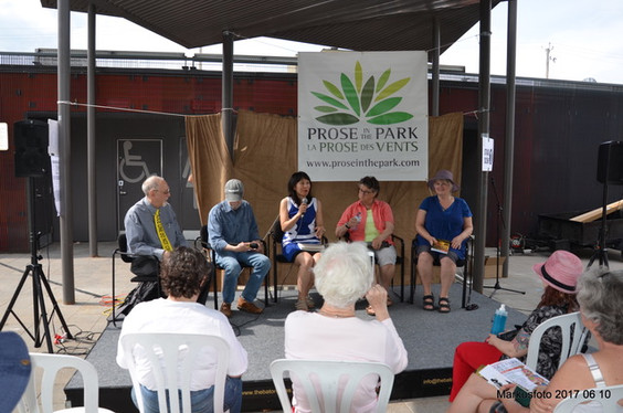 Authors panel, Prose in the Park