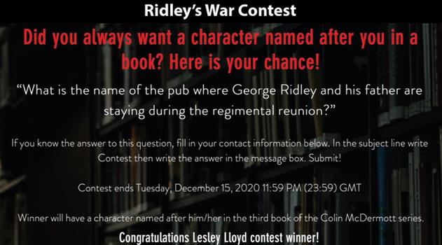 Ridley's War Contest