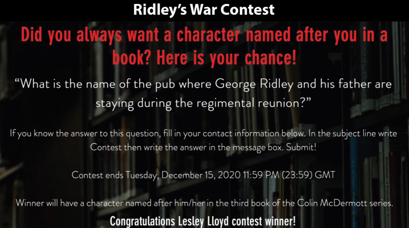 Ridley's War Contest