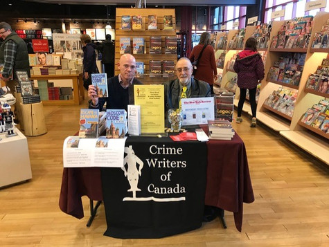Crime Writers of Canada event South Keys Chapters-Indigo, Montreal