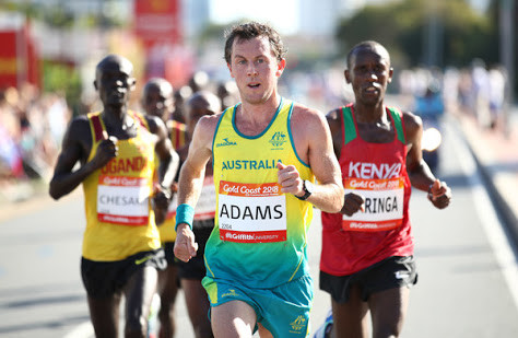 Liam Adams at the recent Commonwealth Games.