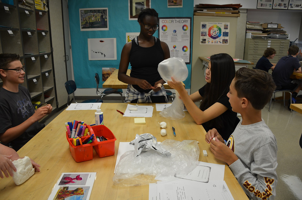Students experiment with new materials and art media