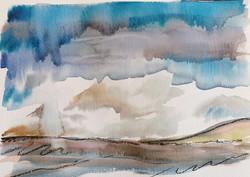 Quick watercolour sketch of Exmoor