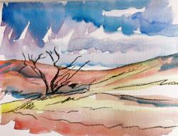 Watercolour of Exmoor